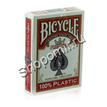 Карты Bicycle Prestige red 100% пластик