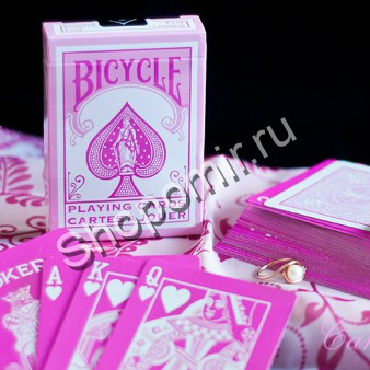 Карты Bicycle Rider Back Pink