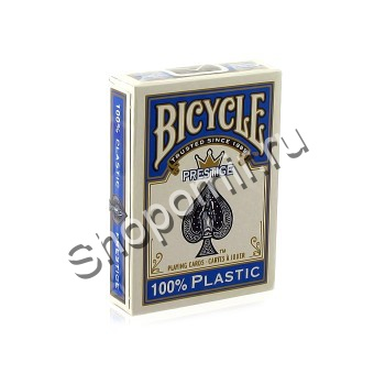 Карты Bicycle Prestige blue 100% пластик