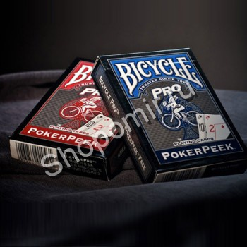 Карты Bicycle Pro PokerPeek Blue